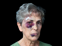 A domestic violence with intimidation victim,badly beaten grandmother