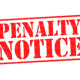 PENALTY NOTICE SDRO fines red Rubber Stamp image