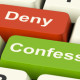 Confess Or Deny computer keys re Guilt or Innocence and how it can affect an Appeal image